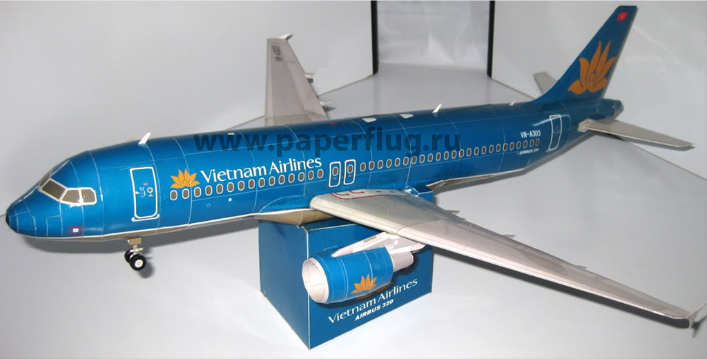Vietnam Airlines Airbus A320 Paper Model By Canon Papercraft